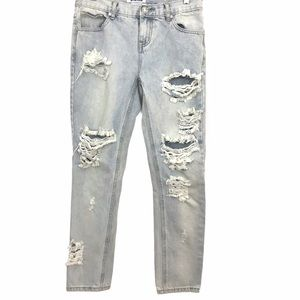 One Teaspoon Awesome Baggies Destroyed Jeans